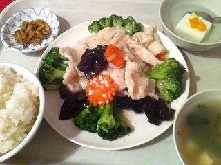 ブロッコリーと鶏肉炒め定食