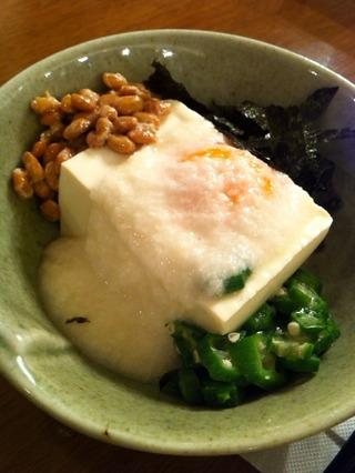 長芋とろろと豆腐のねばねば小鉢