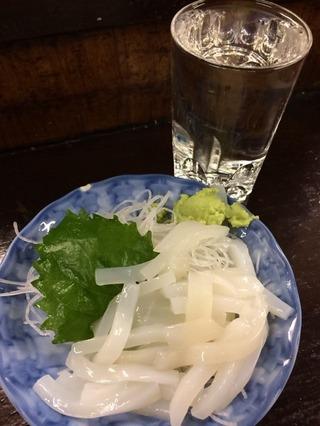 ヤリイカ刺し&純米酒