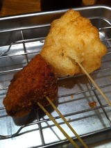 メンチ+ポテト