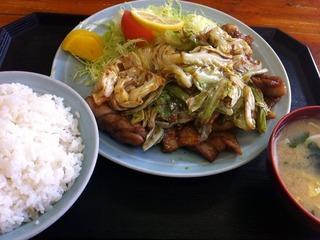 豚カルビスタミナ定食