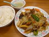 上牛肉と野菜の炒め定食