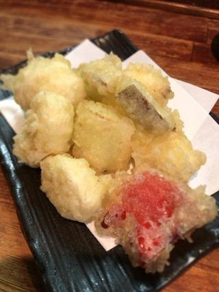 冬の天ぷら盛合せ