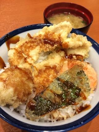 鶏・野菜天丼