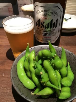 ビール&枝豆