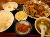 豚肉の薄切りとナスのピリ辛炒めセット