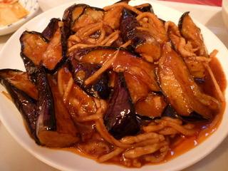 茄子と豚肉の四川風炒め