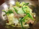 山椒と唐辛子ニンニクキャベツ鍋(辛口)