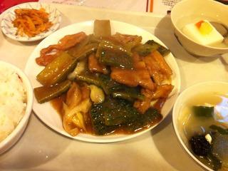 ゴーヤと豚肉炒め定食