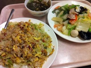 炒飯五目野菜炒め