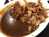 チキンカツのせ生姜焼きカレー