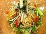太刀魚の胡麻揚げ&完熟トマトの冷麺