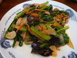 豚肉と青菜のにんにく醤油炒め