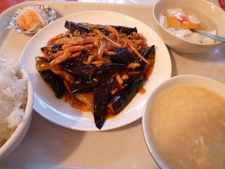 豚肉とナスの炒め定食