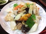 鳥肉と野菜炒め