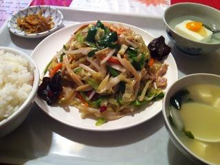 多種類野菜炒め定食