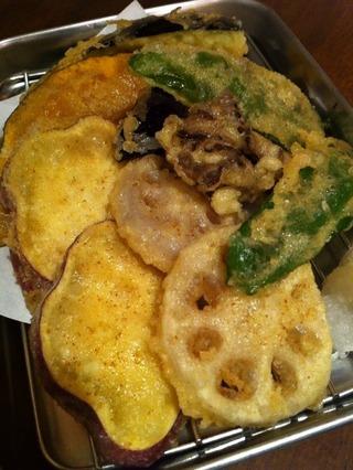 野菜天ぷら盛合せ