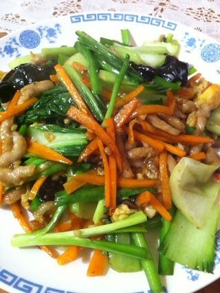 旬の五目野菜と豚肉炒め