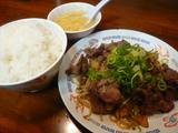 上牛肉の黒胡椒炒め定食