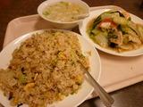 五目野菜炒め+炒飯