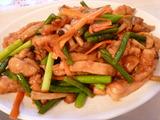 鶏肉ニンニクの芽炒め
