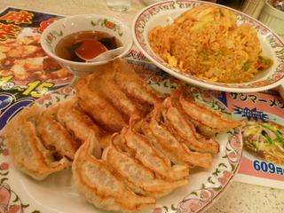 キムチ焼飯&餃子
