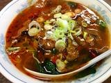 牛肉と唐辛子の旨辛麺
