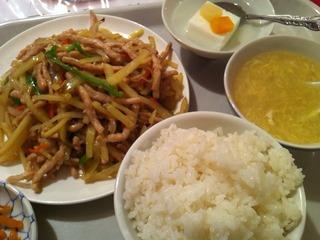 豚肉とジャガイモ炒め定食
