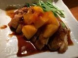 鶏肉の照り焼き 柿ソース煮
