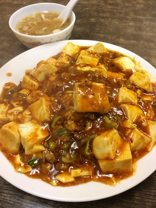 マーボ豆腐あん掛け御飯