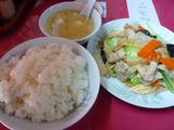 ユバと豚肉とチンゲン菜炒めセット