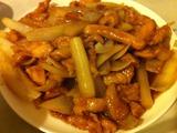 鶏肉と玉ねぎ炒め