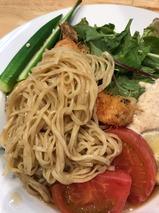 獅子丸流 大海老の冷やし麺 サラダ仕立て