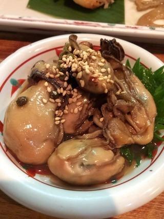 牡蠣の山椒焼