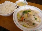 豚肉と五目野菜のうま煮定食