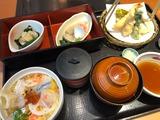 春のミニちらしと天ぷら膳