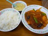 海老と春雨の四川風ピリ辛炒め定食