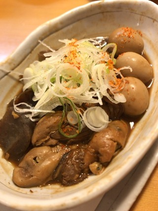 牡蠣とうずらのどて煮