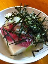 マグロ山かけ豆腐