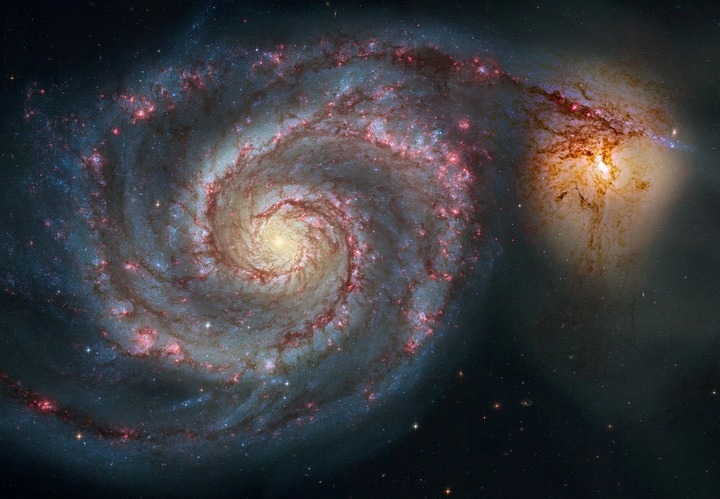 子持ち銀河M51の超美麗写真