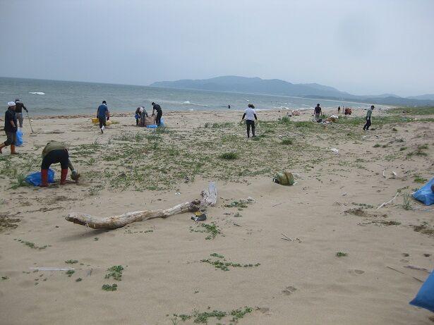 浜清掃活動