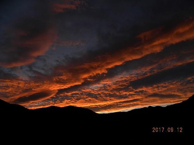 170913-2fuji12日の日暮れ西の空