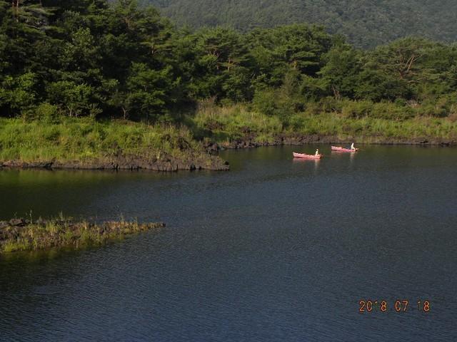 180718-2湖畔荘前小島~松ノ木ロープ