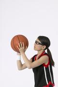 Basketball girl - free throw - mx-20