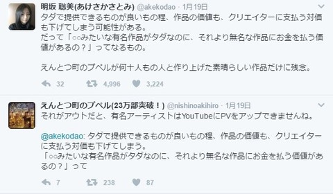 72bc8482-s キンコン西野さんブログで声優の明坂さんフルボッコ