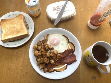 ワイが作ったアチアチお洒落朝食(※画像あり)
