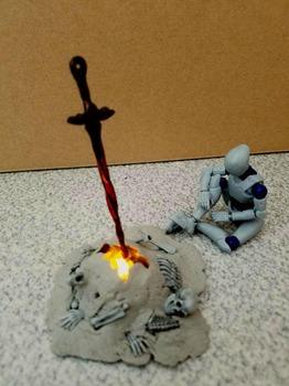 ダークソウルの篝火作ったから見て(※画像あり)