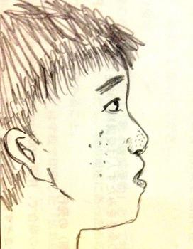 【悲報】俺(ブサ)の横顔の写真を忠実に絵にした結果wwww(※画像あり)