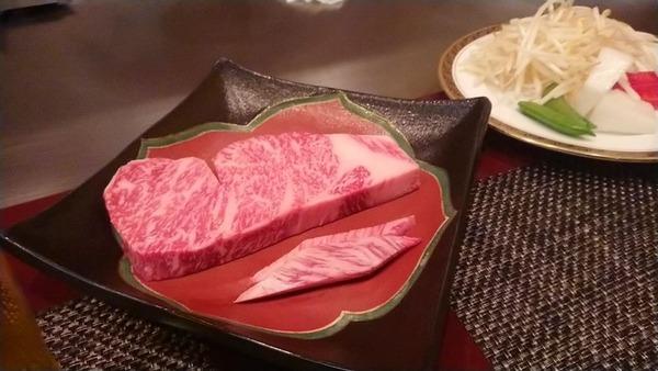 鉄板焼き来たったwwwこれから旨い肉食うwww(※画像あり)