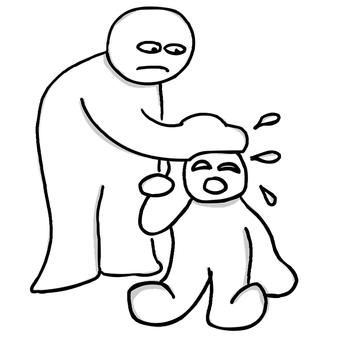 子供ワイ「グスングスン」  大人「泣けば許されると思ってるのか!」  子供ワイ「!?」